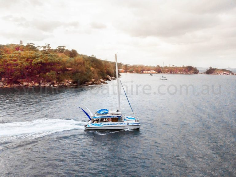boat hire sydney on harbourcat 1